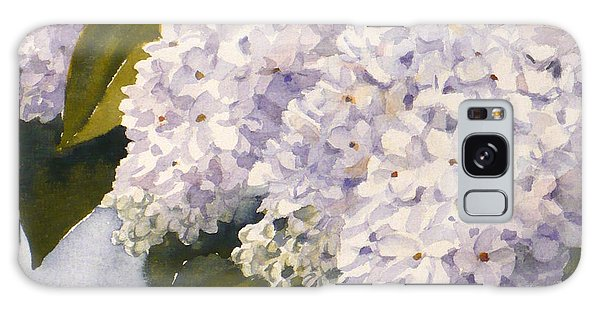 White Lilacs Galaxy Case