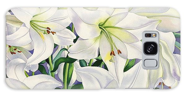 Lily Galaxy S8 Case - White Lilies by Christopher Ryland