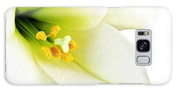 Pollen Galaxy Case - White Lilly Macro by Johan Swanepoel