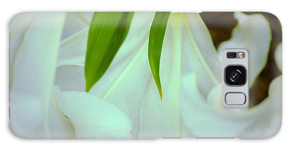 White Lily Bows  Galaxy Case