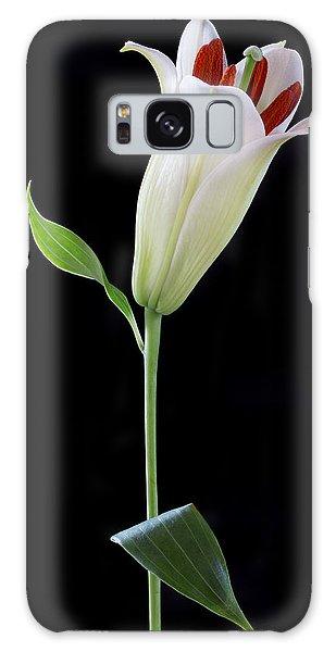 White Lily Bud Galaxy Case