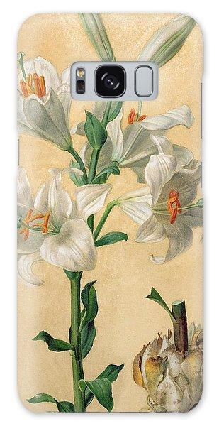Amaryllis Galaxy Case - White Lily by Carl Franz Gruber
