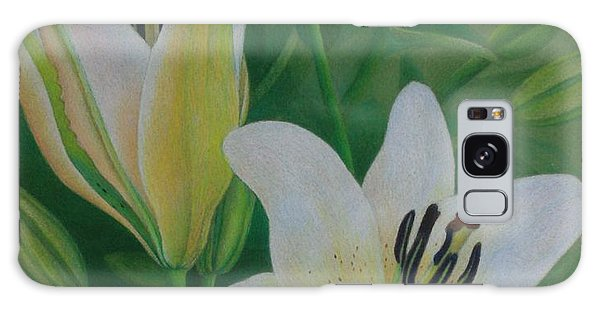 White Lily Galaxy Case by Pamela Clements