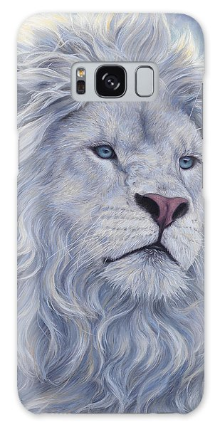 Lion Galaxy Case - White Lion by Lucie Bilodeau