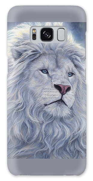 Wildlife Galaxy Case - White Lion by Lucie Bilodeau