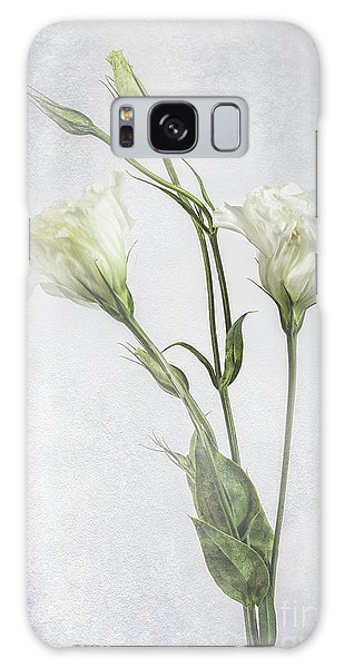 White Lisianthus Flowers Galaxy Case