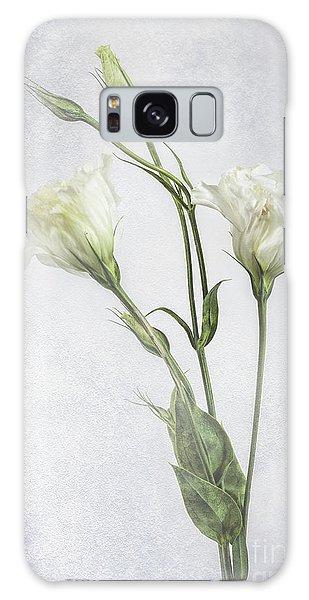 White Lisianthus Flowers Galaxy Case