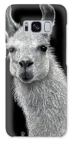 White Llama Galaxy Case