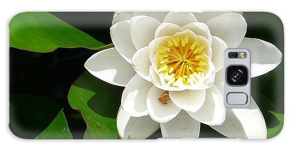 White Lotus Heart Leaf  Galaxy Case