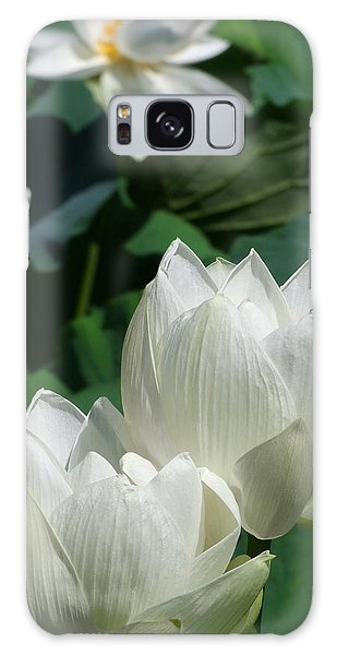 White Lotus Galaxy Case by Larry Knipfing