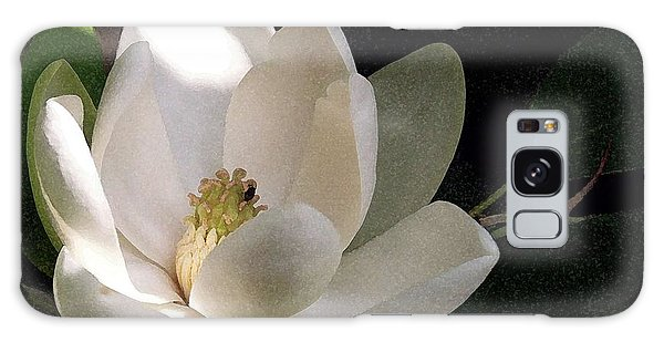 White Magnolia Galaxy Case