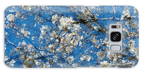 White Magnolia  Galaxy Case by Catherine Lau
