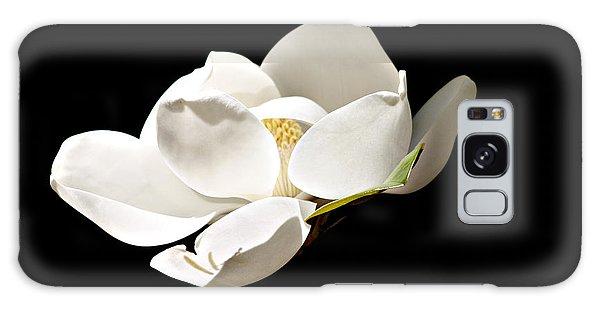 White Magnolia  Galaxy Case