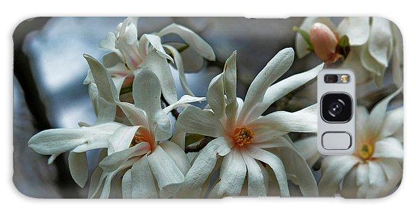White Magnolia Galaxy Case by Rowana Ray