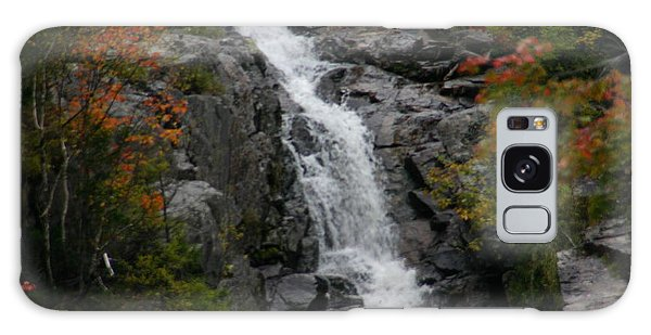 White Mountain Water Fall  Galaxy Case by Denyse Duhaime