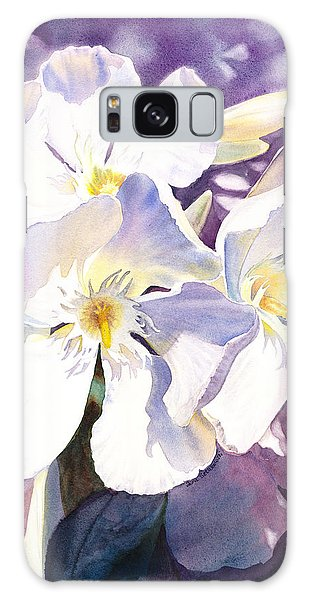 White Oleander Galaxy Case