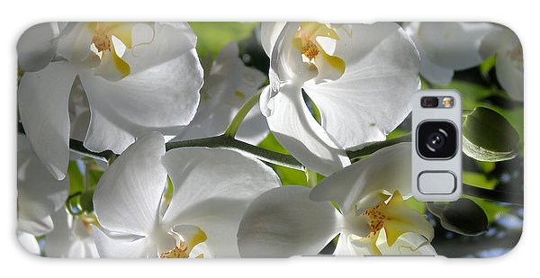 White Orchid In Light Galaxy Case