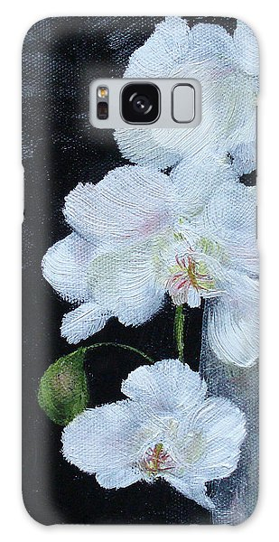 White Orchid Galaxy Case by Judith Rhue