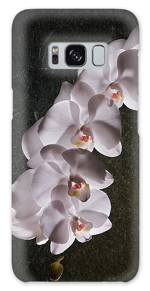 White Orchid Still Life Galaxy Case