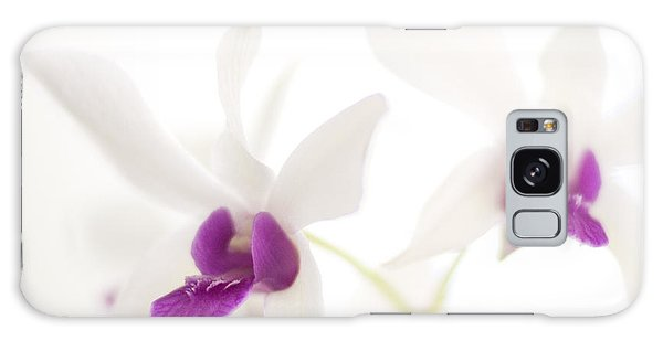 White Orchids Galaxy Case by Bradley R Youngberg