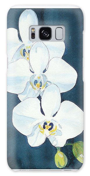 White Orchids Galaxy Case by C Sitton