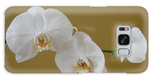 White Orchid's Galaxy Case by Cindy Croal