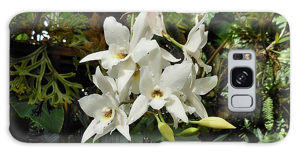 White Orchids Galaxy Case
