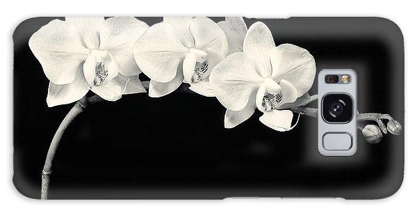 White Orchids Monochrome Galaxy Case