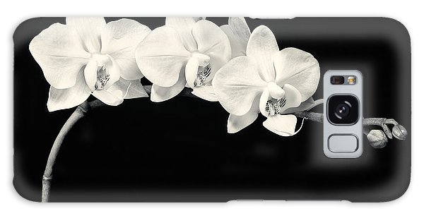 White Orchids Monochrome Galaxy Case