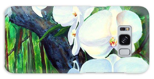 White Orchid's Galaxy Case by Nancy Czejkowski