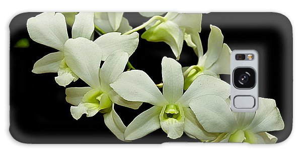 White Orchids Galaxy Case by Swank Photography