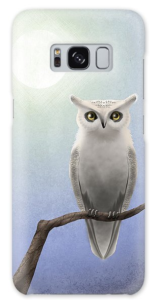 Owl Galaxy Case - White Owl by April Moen