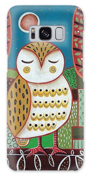 Owl Galaxy Case - White Owl by Karla Gerard