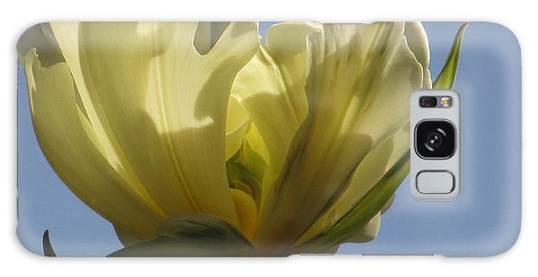 White Parrot Tulip Galaxy Case