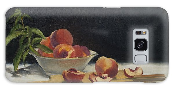 White Peaches Galaxy Case