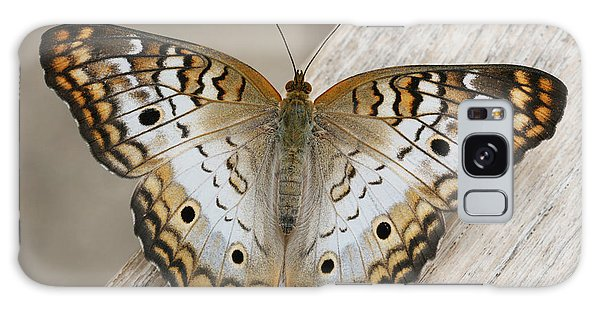 White Peacock Butterfly Galaxy Case by Judy Whitton