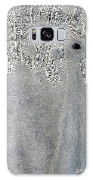 White Peacock Galaxy Case by Patricia Olson