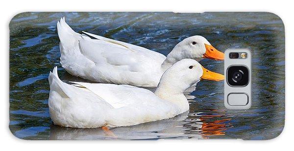 White Pekin Ducks #2 Galaxy Case
