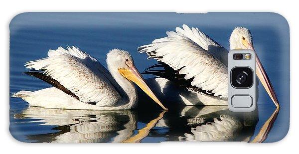 White Pelican Pair Galaxy Case