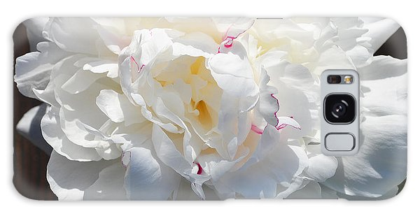 White Peony Galaxy Case by Tine Nordbred