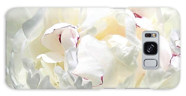 White Peony Galaxy Case by Will Borden