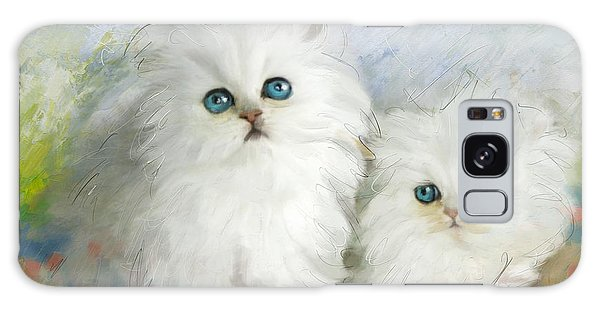 Parakeet Galaxy Case - White Persian Kittens  by Catf