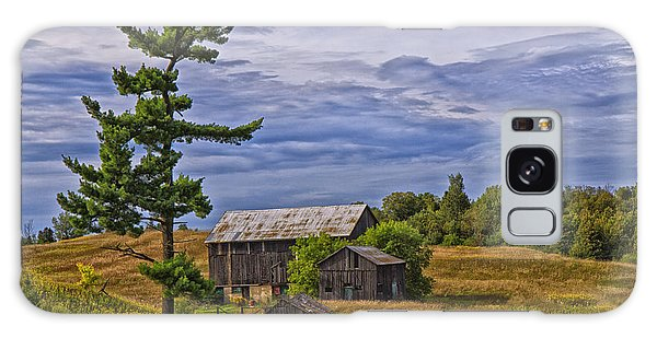 White Pine And Old Barn Galaxy Case by Gary Hall