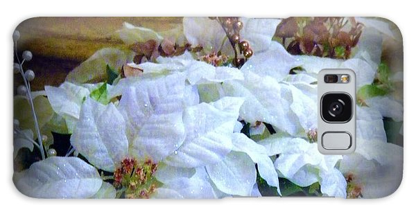 White Poinsettia Galaxy Case by Michelle Frizzell-Thompson