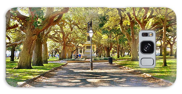 White Point Gardens At Battery Park Charleston Sc Hdr Galaxy Case