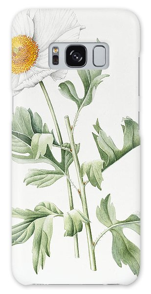 Pollen Galaxy Case - White Poppy by Sally Crosthwaite