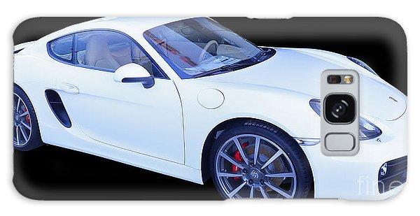 White Porsche Cayman S Galaxy Case