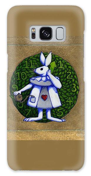 White Rabbit Wonderland Galaxy Case by Donna Huntriss