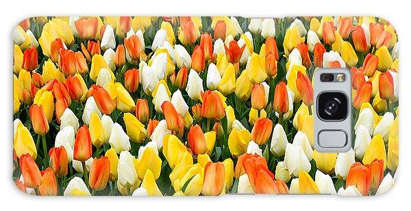 White Orange And Yellow Tulips Galaxy Case by Menachem Ganon