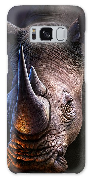 Glow Galaxy Case - White Rhino by Jerry LoFaro